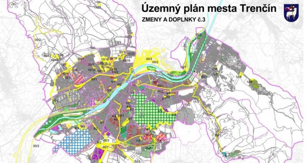 Zmeny a doplnky k územnému plánu Trenčína č. 3 - pripomienky Občianskeho klubu